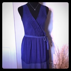 Zara Basic Royal Blue Small Sleeveless Dress